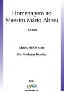 Homenagem ao Maestro Mário Abreu